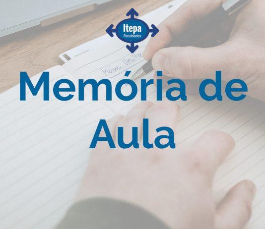 Banner memória de aula